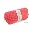 Coral pink - Monopoly Air mesh glasses zipper pouch bag