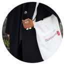 Comes with key holder- ROMANE Brunch brother AirPods zipper pouch bag
