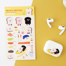 Toast - ROMANE Brunch brother PVC deco sticker 2 sheets set