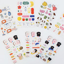 ROMANE Brunch brother PVC deco sticker 2 sheets set