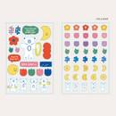 Hola bear - ROMANE Brunch brother PVC deco sticker 2 sheets set