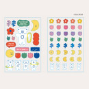 Hola bear - ROMANE Brunch brother PVC deco sticker 2 sheets set