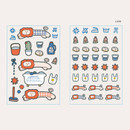 Lion - ROMANE Brunch brother PVC deco sticker 2 sheets set