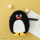 Black penguin - ROMANE Brunch brother compact zipper pouch with key clip