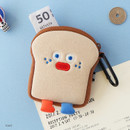 Toast - ROMANE Brunch brother compact zipper pouch with key clip