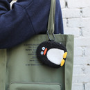 Usage example - ROMANE Brunch brother compact zipper pouch with key clip