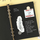 Usage example - PAPERIAN Paper board 6-ring A5 size blank notebook refill