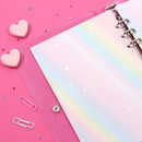 Usage example - Second Mansion Rainbow 6-ring A5 blank notebook refill