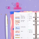 Usage example - Second Mansion Daily plan 6-ring A6 planner notebook refill