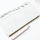O-CHECK Floral dateless weekly desk spiral planner scheduler