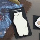 White bear - Iconic Animal sticky note 40 sheets