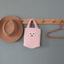 Pink - ROMANE Brunch Brother Pom Pom boucle tote bag