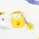 Bird - ROMANE Donat Donat AirPods case silicone cover with Keyring