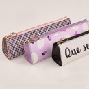 Zipper closure - Antenna Shop Triangle synthetic leather zipper pencil case