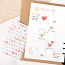 01 - PLEPLE Alphabet gradation paper deco sticker sheet