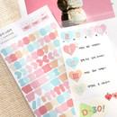 01 - PLEPLE Number gradation paper deco sticker sheet