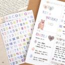 08 - PLEPLE Number gradation paper deco sticker sheet