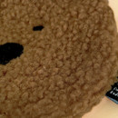 Detail of Iconic Furry buddy zipped card case holder