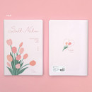 Tulip - Ardium Soft large lined notebook 128 pages