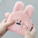 Rabbit - Furry buddy small cosmetic pouch bag