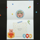 Usage example - Dailylike Party bear removable paper deco sticker