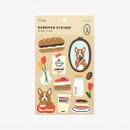 Package - Dailylike Cafe corgi removable paper deco sticker