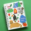Usage example - Dailylike Animal kingdom removable paper deco sticker