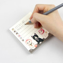 90gsm paper - Jetoy choo choo cat memo notes writing pad ver2