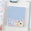 Blossom - Jetoy choo choo cat memo notes writing pad ver2