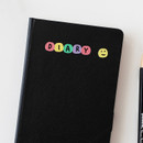 Usage example - 2NUL Drawing alphabet color sticker set