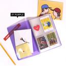 Purple - Jam Studio Moa Moa slip in pocket photo name card album