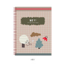Hey - Oh-ssumthing O-ssum spiral lined grid blank notebook
