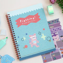 Fighting - Oh-ssumthing O-ssum spiral lined grid blank notebook
