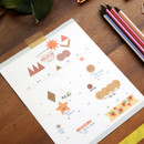 Usage example - Oh-ssumthing O-ssum colorchip deco craft sticker set