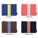 Color - Monopoly Air mesh medium plain zipper pouch bag