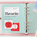 Aqua - 2NUL Color A6 wide 6-ring blank notebook refill set