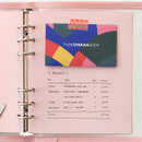 Peach - 2NUL Color A6 wide 6-ring blank notebook refill set