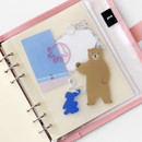 2NUL Zip slide pouch for A6 wide 6-ring binder