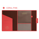 Coral Pink - Monopoly Grand new classy A-pocket file folder pouch bag