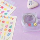 Usage example - Wanna This Twinkle Alphabet and Number craft deco sticker