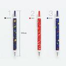 Option - O-ssum knock retractable ballpoint gel pen with clip