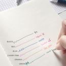 Colors - O-ssum knock retractable ballpoint gel pen with clip