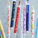 O-ssum knock retractable ballpoint gel pen with clip