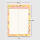 No.1 - Oh-ssumthing O-ssum B5 size grid memo notes notepad
