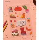 Orange - Oh-ssumthing O-ssum sticker for decoration