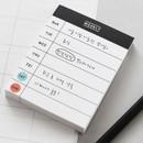 Weekly - 2NUL Drawing memo checklist weekly plan notes notepad