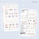 Water color 1 - Oh-ssumthing O-ssum sticker set for notes