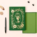 Anne medium hardcover undated monthly planner notebook