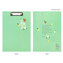 Camellia Flower - Bookfriends Korean literature clipboard file holder