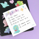 Usage example - PLEPLE Bubble dino memo notes notepad